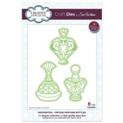 CED23005 - Creative Expressions Dies by Sue Wilson - Necessities Collection -Vintage Perfume Bottles